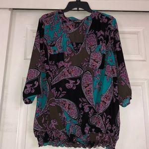 Lane Bryant 18/20 v neck 3/4 sleeve blouse